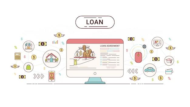 Infographics do empréstimo