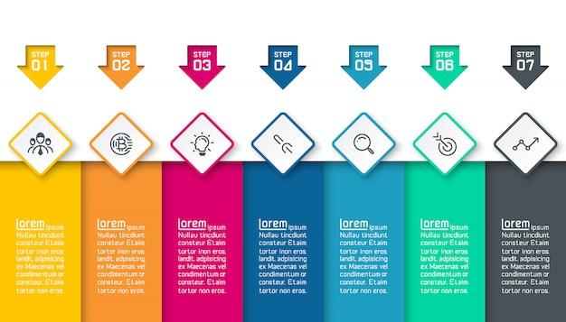 Infographics no fundo abstrato do vetor das camadas coloridas.