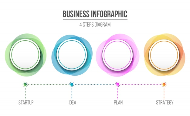 Informação de infográfico de diagrama