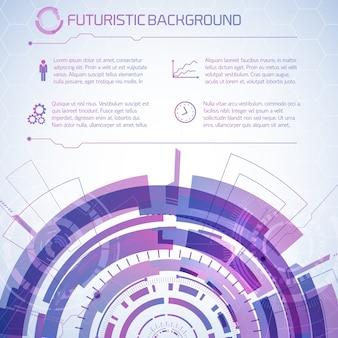Informação de tecnologia futurista