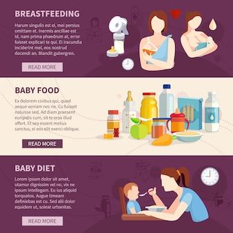 Informações sobre bebês amamentando e crianças com melhores escolhas alimentares