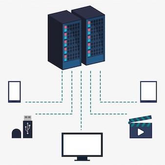 Informações sobre o armazenamento do equipamento do centro de dados