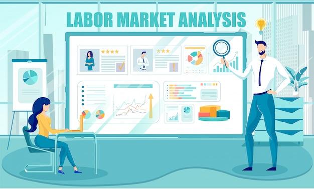 Informações sobre recursos humanos na análise do mercado de trabalho.