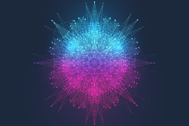 Informática científica quântica de ilustração vetorial.