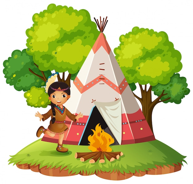Infront indiano da tenda