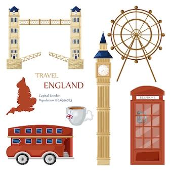 Inglaterra viajar coleção de marcos
