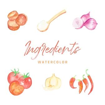 Ingredientes aquarela