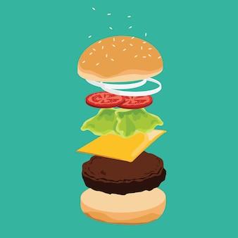 Ingredientes hamburger.