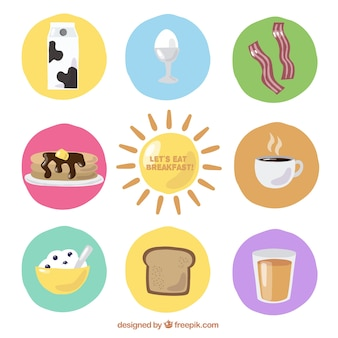 Ingredientes para o pequeno-almoço