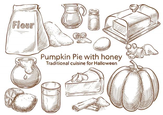 Ingredientes tradicionais de comida de halloween