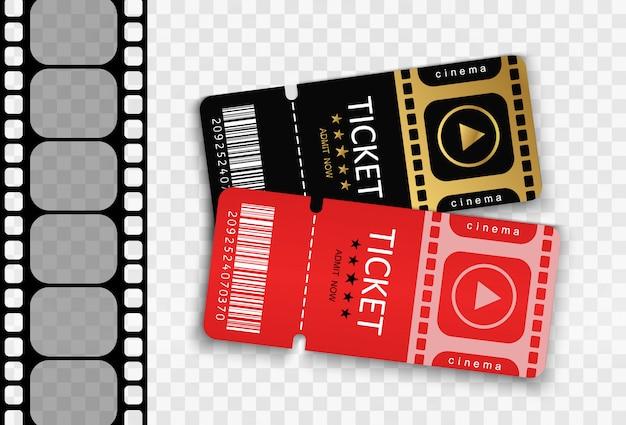 Ingressos para assistir a um evento ou filme em fundo transparente.