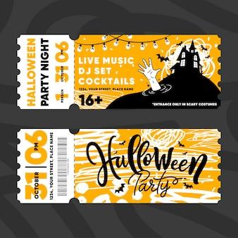 Ingressos para o festival de halloween