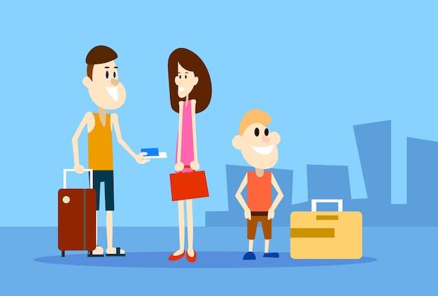 Ingressos para pessoas que viajam em família