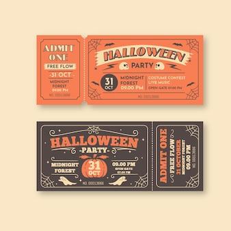 Ingressos vintage de halloween