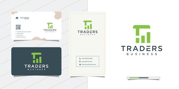 Iniciais de e-business e cartão de visita