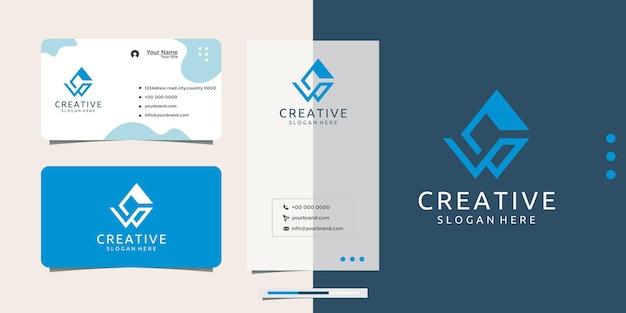 Iniciais do logotipo criativo c