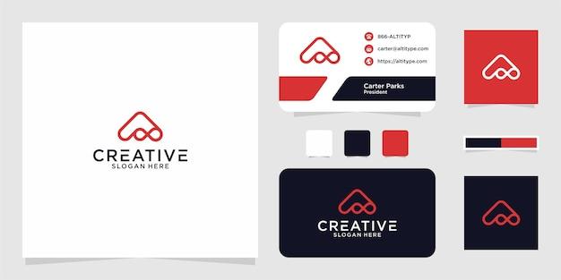 Iniciais do logotipo um design gráfico infinito para outros usos é perfeito