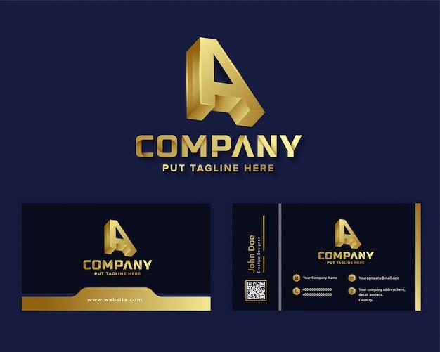 Inicial de luxo premium letra a logotipo modelo para empresa