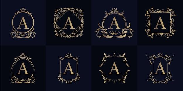 Inicial de quadro de ornamento de luxo uma coleção de conjunto de logotipo.