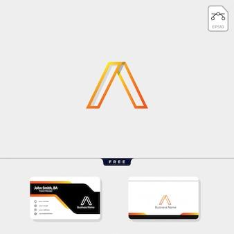 Inicial um modelo de logotipo mínimo
