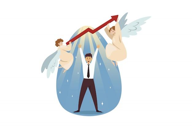 Inicialização do trabalho em equipe, cristianismo da religião, conceito de negócio.