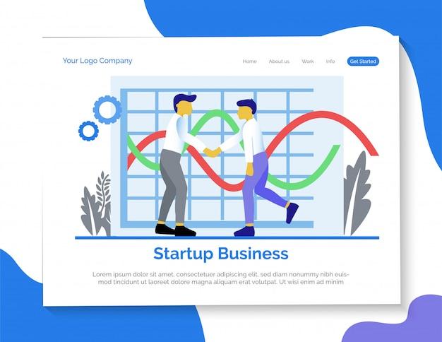 Inicie a página de destino da empresa.