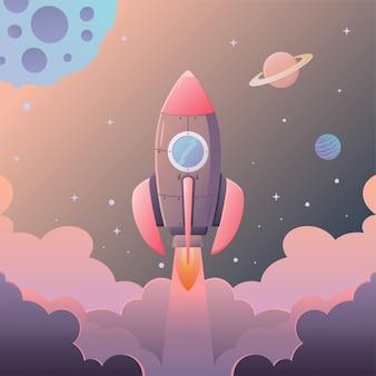 Inicie o foguete espacial