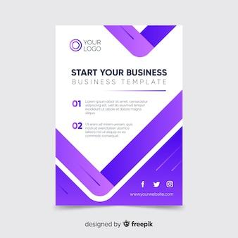 Inicie seu modelo de panfleto comercial