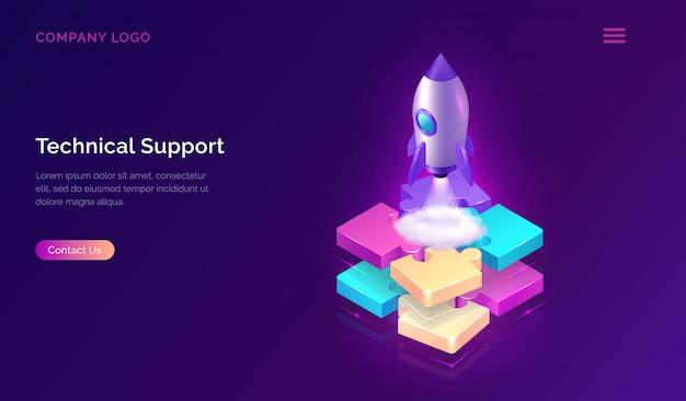 Início de negócios, cooperação, suporte técnico
