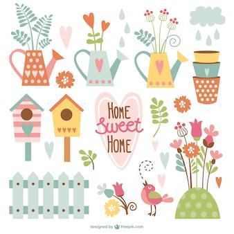 Início desenhos animados sweet home embalar