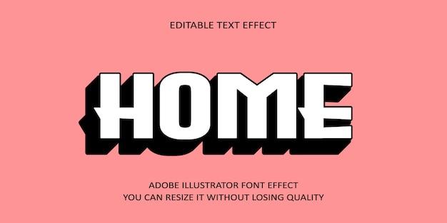 Início texto editável efeito