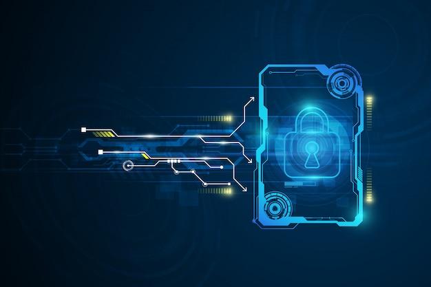 Inovação abstrata da tecnologia do conceito da segurança de dados d