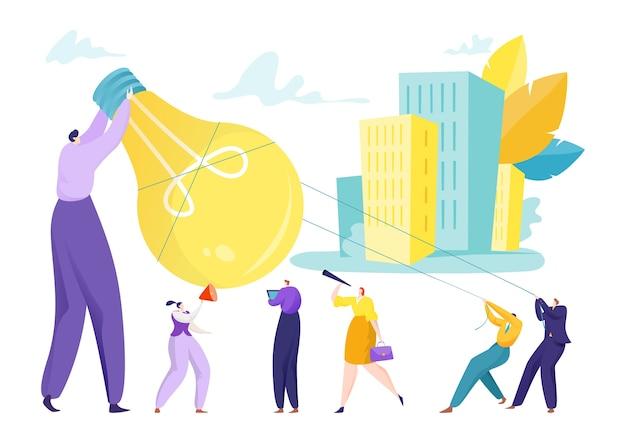Inovação de ideias de negócios para pessoas em equipe