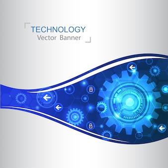 Inovação de tecnologia de fundo moderno conceito de design.