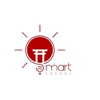 Inovação inteligente do logotipo do japão