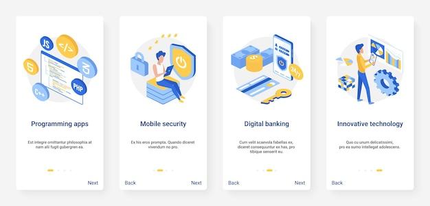 Inovação tecnológica inovadora de segurança bancária digital na programação de serviços bancários
