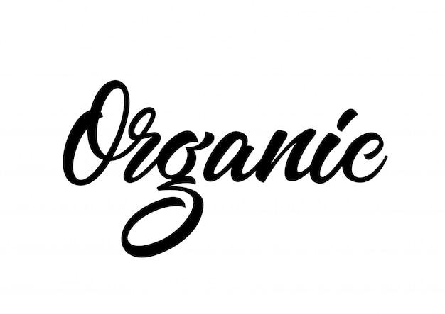 Inscrição caligráfica orgânica