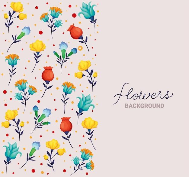 Inscrição de fundo de flores