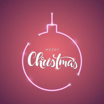 Inscrição de letras de roteiro de feliz natal