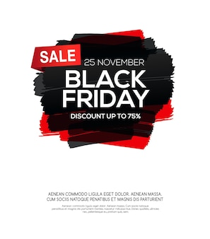 Inscrição de venda de sexta-feira negra em manchas de tinta abstratas