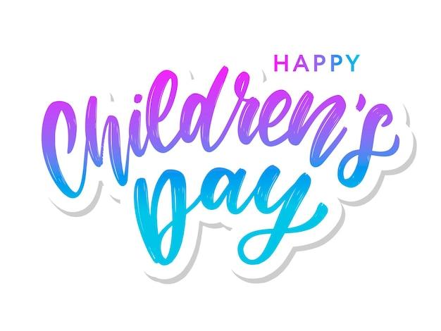 Inscrição do dia da criança feliz.