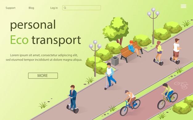 Inscrição pessoal eco transporte lettering.