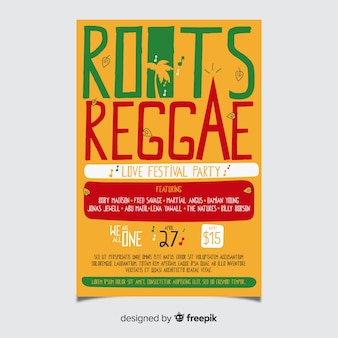Insecto do partido das raizes do reggae