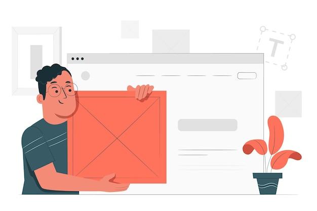Inserir ilustração do conceito de bloco