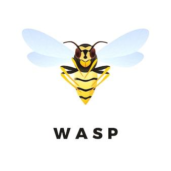 Inseto predador vespa amarela
