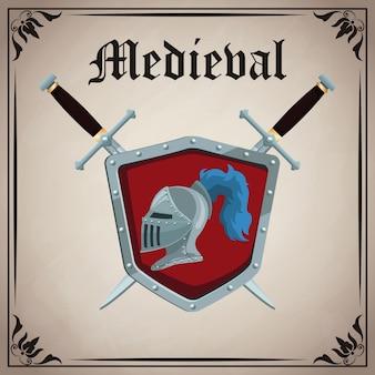 Insígnias do emblema medieval