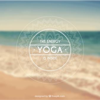 Insígnias yoga no estilo ornamental