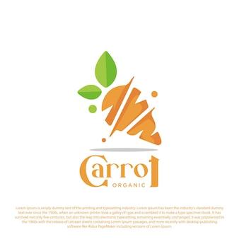 Inspiração criativa do logotipo da cenoura ilustração simples do vetor do logotipo da cenoura