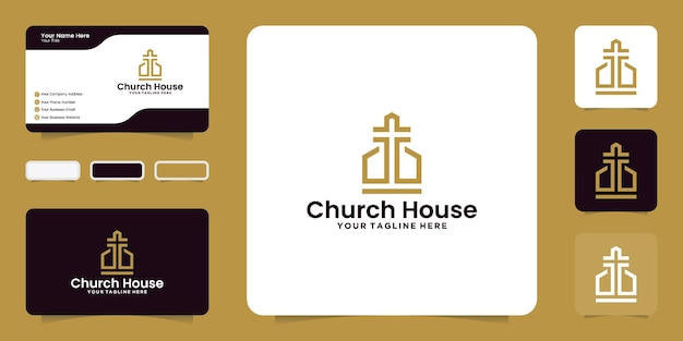 Inspiração de design de casa religiosa e inspiração de cartão de visita