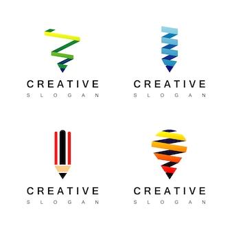 Inspiração de design de logotipo criativo
